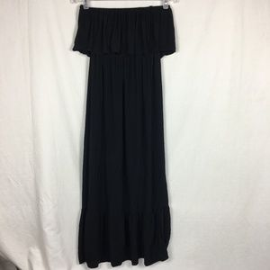 Cotton On Black Strapless Ruffle Dress